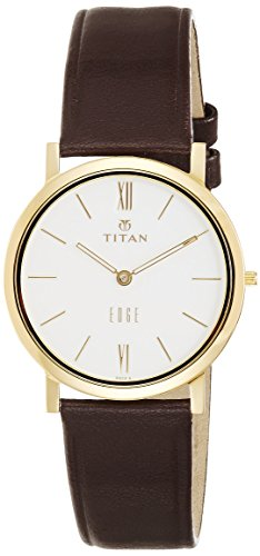 Titan Men's Edge Mineral Quartz Glass Slim Analog Wrist Watch- Ultra Slim with Metal/Leather (Titan Edge)