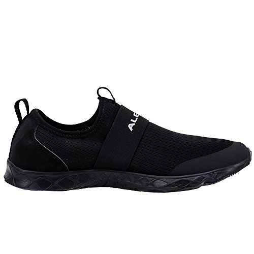 ALEADER Women's Quick-Dry Aqua Water Shoes All Black 7 D(M) US by ALEADER (Image #6)