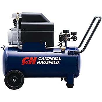 Campbell Hausfeld Air Compressor, 8-Gallon Horizontal Oil-Lubricated 3.7CFM 1.3HP 120V 10A 1PH (HL540100AV)