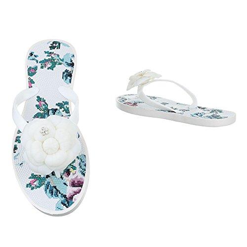 Ital-Design - Zapatos con tacón Mujer Weiß