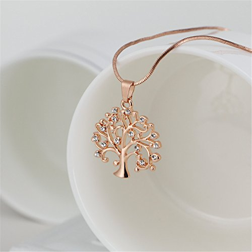 Baqijian Pendant Necklace Women Jewelry Silver Rose Gold Color Statement Necklaces Pendants Xl-0136 Rose Golden