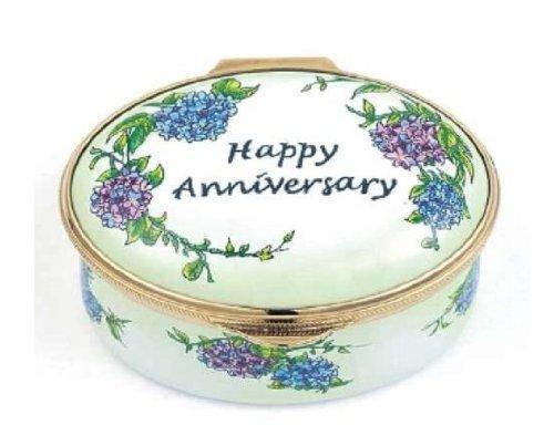 (Staffordshire Enamels Happy Anniversary Box)
