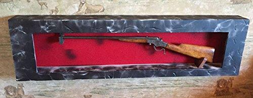 Rifle Display Case . Rack-Case. Wall Mount , Made in the USA. Distressed Wood Gun Display. Gun Wall Display.Solid Wood Gun cabinet.Gun Display,All Cedar Wood.