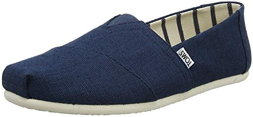 - TOMS Men's Classic Canvas Slip-On Venice Collection Alpargata Majolica Blue Heritage Shoe (10 M US, Majolica Blue Heritage Canvas)