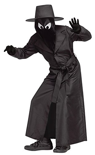 Detective Trench Coat Costume (Fun World Big Boy's Spy Guy Child Costume Childrens Costume, Black,)