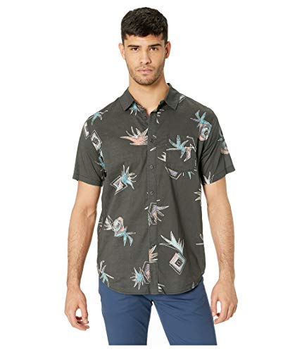 Billabong Sundays Floral Short Sleeve Woven Black Coral SM from Billabong