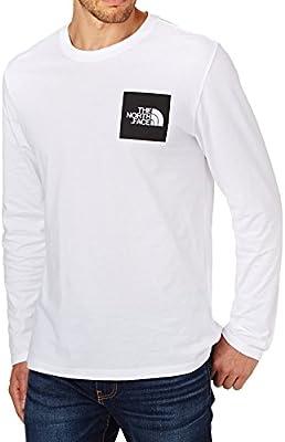 North Face M L/S Fine tee - Camiseta, Hombre, Blanco - (TNF White ...