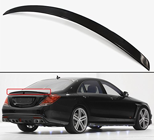 Cuztom Tuning Fits for 2014-2018 Mercedes Benz W222 S Class S400 S500 S550 S63 S65 AMG Style Carbon Fiber Trunk Spoiler Wing ()