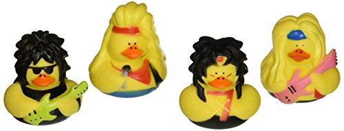 Rock Rubber (Fun Express Vinyl Big Hair Rubber Duckies (12)