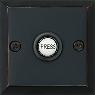 """Knoxx Hardware BP3 Series 2.5"""" Metro Square Door Bell Button, 1-Pack"""