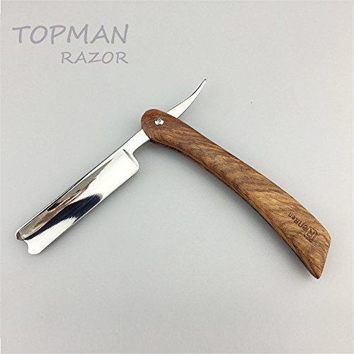 Handmade Straight Razor Retro Shaving Razor Stainless Steel Wood Handle Barber Razor Collector's Edition Gift for Men folding knife