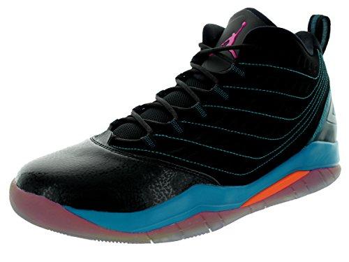 Nike Jordan Velocity Hombres Negro / Tropical Teal / Electro Orange / Fusion Pink 688975-025 (tamaño: 10.5)