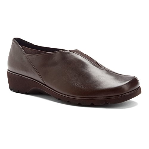 ara Adel Women Flats Shoes, Dk BRWN Leather, Size - 7.5