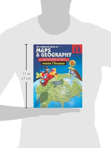 Workbook continents for kids worksheets : Amazon.com: The Complete Book of Maps and Geography, Grades 3 - 6 ...