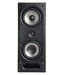 Polk Audio 265 Rt 3 Way In Wall Speaker The Vanishing Series Easily Fits In Ceiling Wall High Performance Audio Use In Front Rear Or As Surrounds With Power Port Paintable Grille