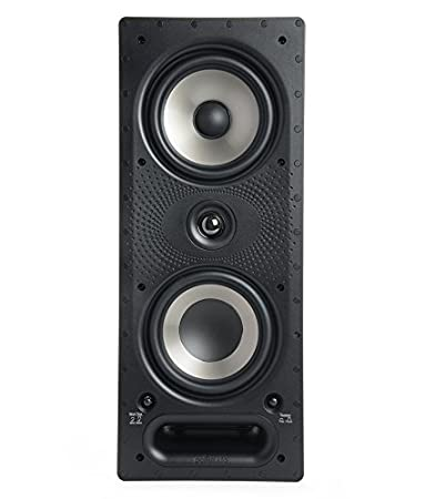 Polk Audio 265RT(EA) 3-Way in-Wall Speaker (Black) Multimedia Speaker Systems at amazon