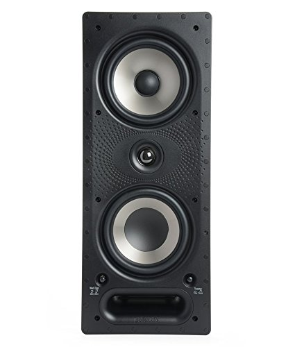 High Professional Series Wall - Polk Audio 265-RT 3-way In-Wall Speaker - The Vanishing Series | Easily Fits in Ceiling/Wall | High-Performance Audio - Use in Front, Rear or as Surrounds | With Power Port & Paintable Grille
