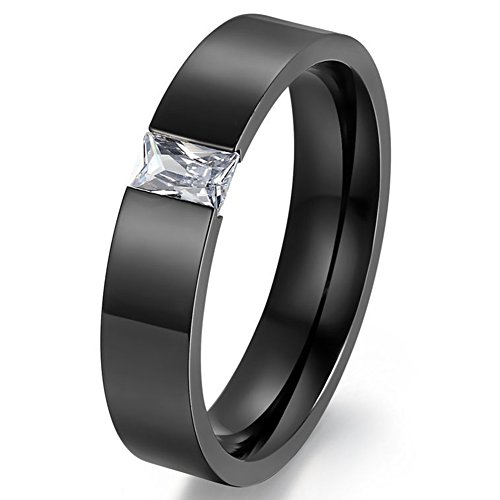 Men's Wedding Bands Classic 6MM Titanium Steel Tungsten Love Promise Rings for Him High Polish Comfort Fit Size 8 - Wholesale Stainless Steel Rings