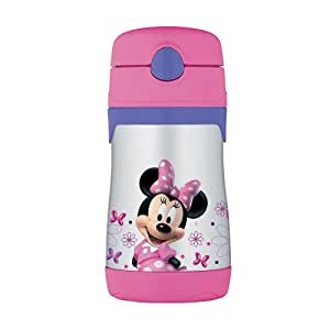 Thermos FUNtainer Stainless Steel 10 oz Leak-Proof Straw Bottle - Minnie Mouse