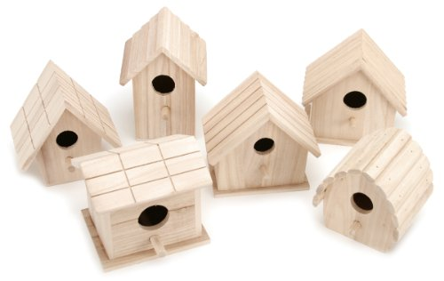 (Darice Wooden Birdhouse-1 of 6 Assorted Styles)
