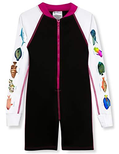 Pink Shorty Wetsuit - Tuga Girls Snorkel Shorty 1.5mm Neoprene Wetsuit (UPF 50+), Pink Caribbean, XL (13/14 yrs)