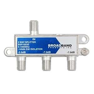 Broadband Pro Series - Commercial Grade 1GHz 3-Way Splitter - 140dB High Isolation