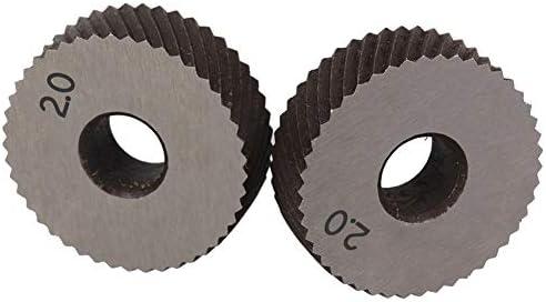 LOYAL TECHNOLOGY-PACKAGE Rändelwerkzeug 1 Paar 2.0mm Wälzfräser Rad Rändelrad Strukturierter Knurled Lathe Prägeradabschnitt Werkzeugmaschinen Zubehör Hebt Getriebe