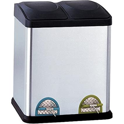 Neu Home 8 Gallon Step On Recycling Bin, Stainless