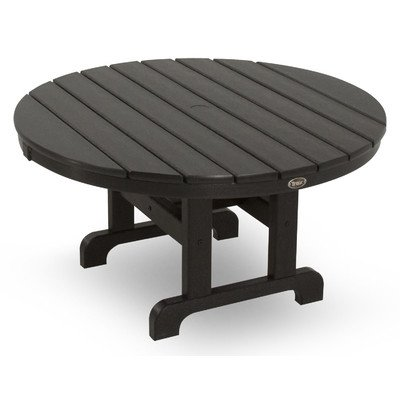 picture of Trex Outdoor Cape Cod Round Conversation Chat Table Color: Charcoal Black, Table Size: 36""