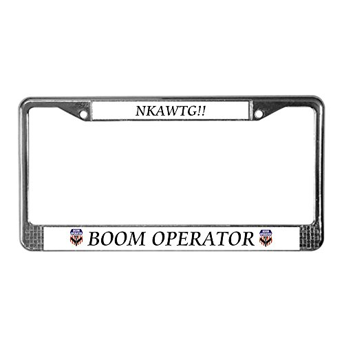 CafePress - Boom Operator - Chrome License Plate Frame, License Tag Holder