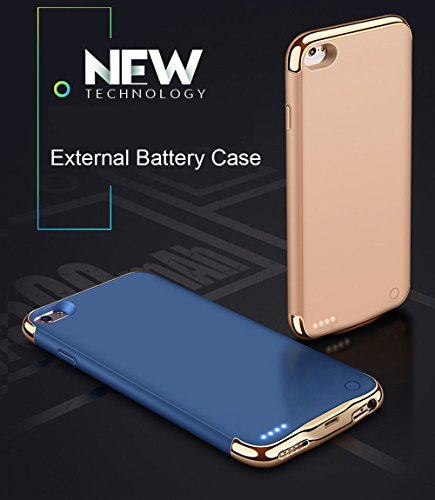 New Idealforce iPhone 6Plus/7Plus/8Plus Battery Charger Case, 4000mAh Portable Charger Case Rechargeable Extended Charging Case Cover for iPhone 6Plus/7Plus/8Plus (5.5 Inch) (Blue) orange iphone 7 plus case 7