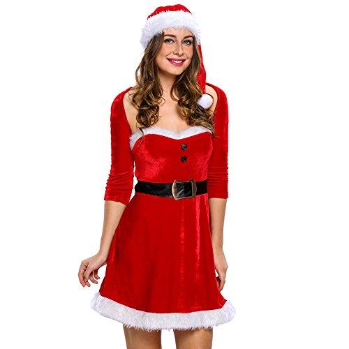 Mrs Santa Costume Size 20 (Papaya Wear Mrs Santa Helper Christmas Costume Dress for Women)