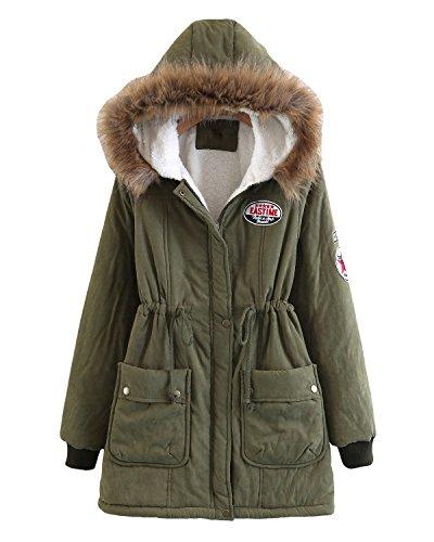 winter coat mid long warm