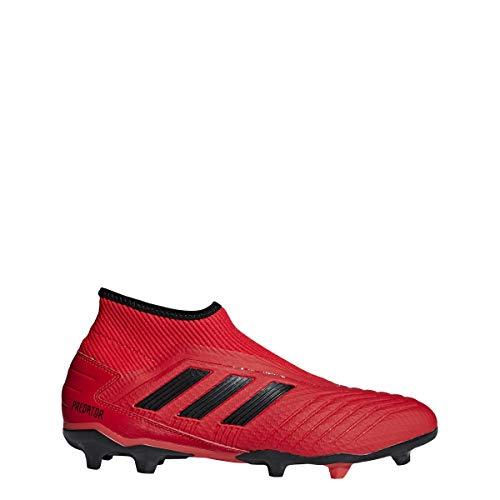 adidas Men's Predator 19.3 Laceless Firm Ground Cleats (7.5, Active Red/Core Black/Core Black)