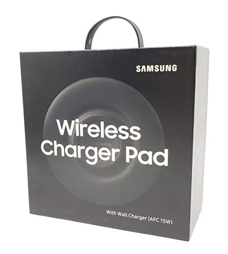 Official (2018) Samsung Wireless Charger Fast Charge Pad, Universally Compatible with Qi Enabled Phones (Black)