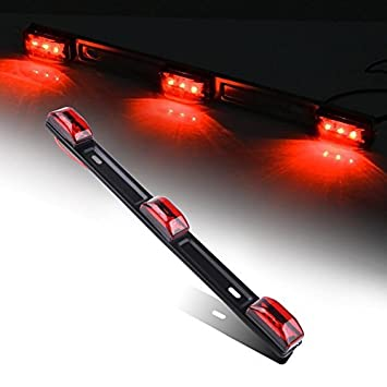 Amazon acumste 3 light 9 led trailer light bar red led id bar acumste 3 light 9 led trailer light bar red led id bar light truck trailer marker mozeypictures Choice Image