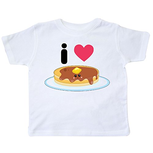 inktastic Love Pancakes Toddler T-Shirt 4T White