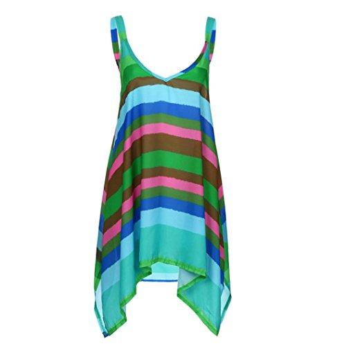 Women Vest Tank Tops,Toimoth Plus Size Stripe Pullover Top Irregular Sleeveless Shirt Tops Blouse (XL, (Plaid Gaucho Pant)
