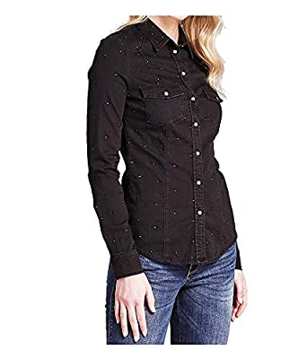 best service 1188f 55f9d Guess Camicia Jeans Donna Black: Amazon.co.uk: Clothing