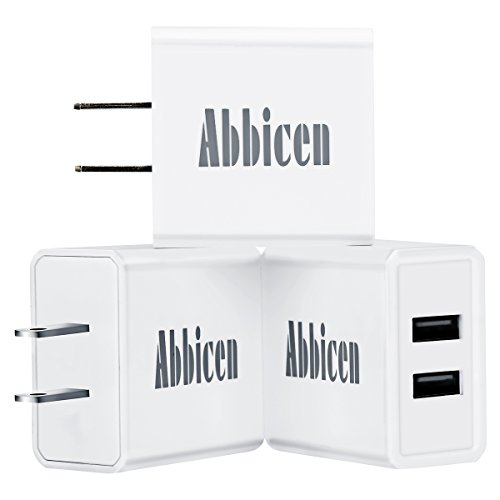 Abbicen USB Wall Charger 3 Pack Dual Port USB Charger with iSmart Technology 2.1A USB Wall Adapter for iPhone iPad Samsung Bluetooth Speaker Headset and More Device
