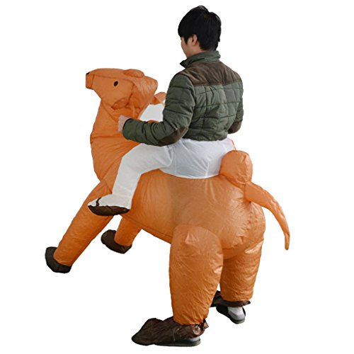 Fityle Funny Adult Inflatable Riding Camel Mascot Costume Unisex Fancy Dress Up