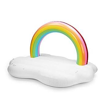 Flotador inflable de la piscina de agua de la isla del arco iris, juguetes inflables divertidos ...