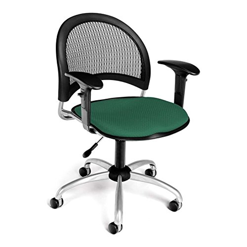 (OFM 336-AA3-2201 Moon Swivel Chair with Arms, Shamrock Green)