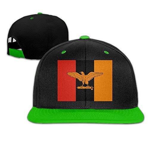 LFishera Zambian Flag Adult Unisex Baseball Snapback Hat Tru