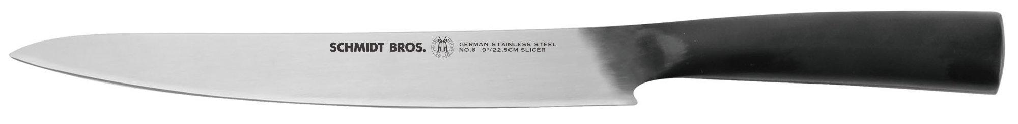 Hudson Home Schmidt Brothers Cutlery,#6 Carbon 9'' slicer,Black