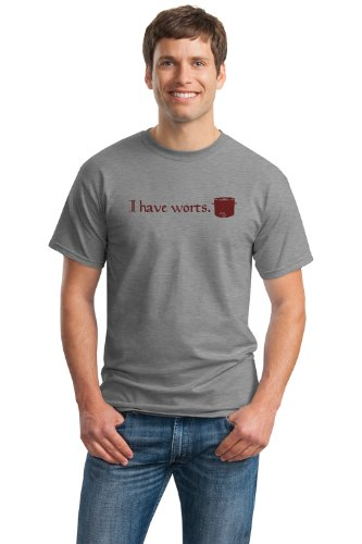 HOMEBREW: I HAVE WORTS Unisex T-shirt / Funny Home Brewing Beer Humor Tee