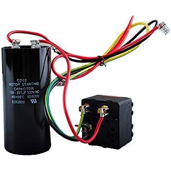 ac hard start capacitor compatible 5-2-1 csr-u2, compressor saver for  3 5-4- 5 tons, hvac hard start kit
