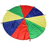 M-Aimee Kids Play Parachute 6ft Kids Sport Parachute with 8 Easy Hold Handles for Team Game