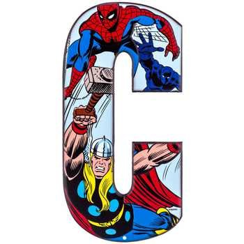Embossed Letter (Superhero Marvel & DC Comics Embossed Tin Letter Sign (C (Thor & Spider-Man)))
