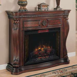 Lexington Infrared Electric Fireplace Mantel in Cherry